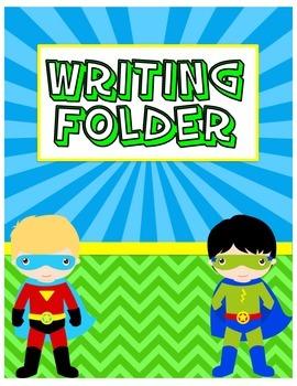 Superhero Writing Folder Cover