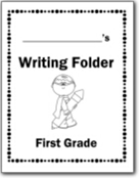 Superhero Writing Folder and Labels