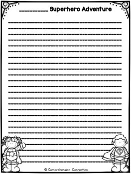 Superhero Writing Freebie