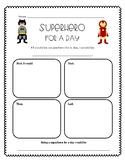 Superhero Writing Graphic Organizer
