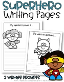 Superhero Writing Pages