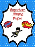 Writing Paper: Superhero Themed
