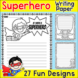 Writing Paper - Superhero Theme