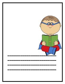 Superhero Writing Paper (Journals)