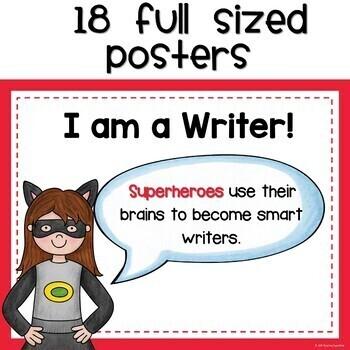 Writing Posters Superhero Style