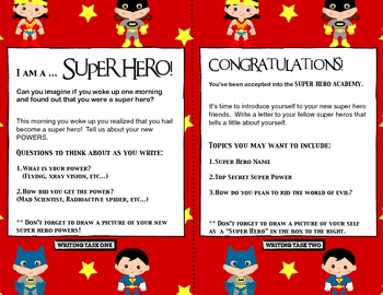 Superhero Writing Prompts