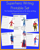 Superhero Writing Prompts Pages