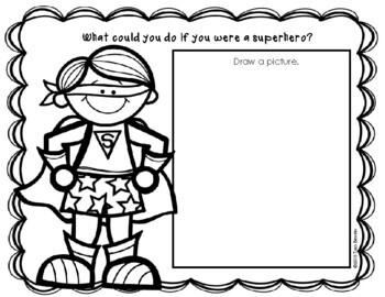 Superhero Writing Sheets Freebie {3 Levels}