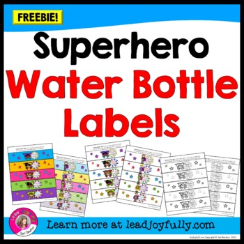 "FREE download! Superhero ""YOU Rock!"" Water Bottle Labels!"