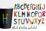 Superhero alphabet letters clip art ABC
