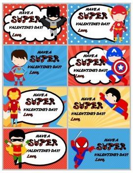 Superhero and Princess Valentine Cards