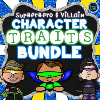 Superhero And Villain Character Traits Bundle By Glistening Gems