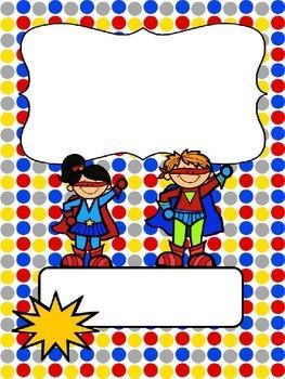 Superhero binder covers ~ editable