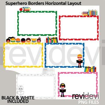 Superhero borders horizontal layout