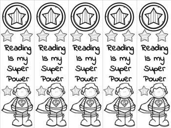 Superhero boy bookmark