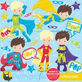 Superhero boys clipart commercial use, vector graphics, di