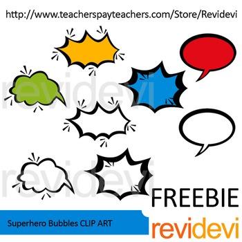Superhero bubbles free clip art