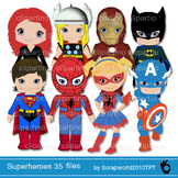 35 files!!! Superhero clip art, superboy, supergirl,Mega set-Bundle