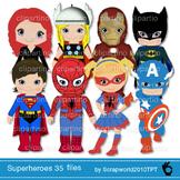 35 files!!! Superhero clip art