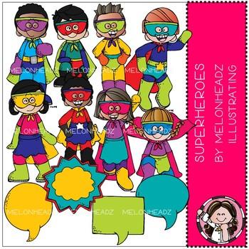Superhero clip art - COMBO PACK - Melonheadz clipart