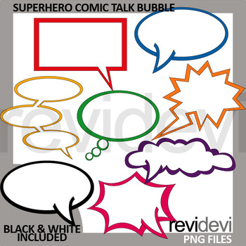 Superhero clip art - Comic talk bubble clipart