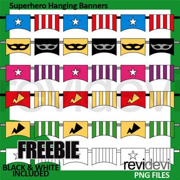 Superhero clip art Free Download - Superhero hanging banners clip art