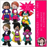Superhero clip art - Girls - Mini - by Melonheadz
