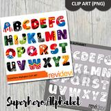 Superhero clip art alphabet