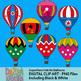 Superhero clip art, hot air balloons