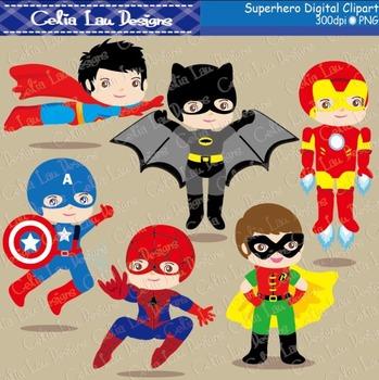 Superhero clipart  2 - Superheroes kid