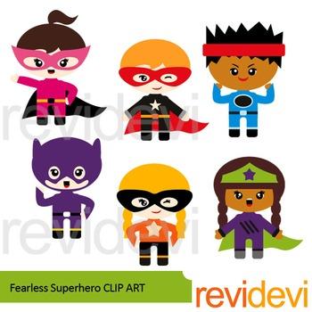 Superhero clipart - Fearless Superhero clip art
