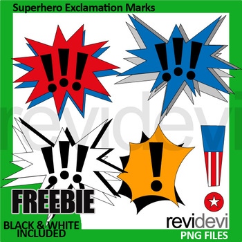 Superhero clipart Free - Exclamation Marks clip art freebie