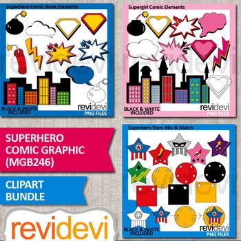 Superhero clipart bundle