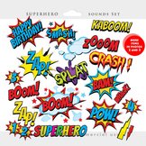 Superhero clipart - comic book clip art, super heroes, sou