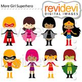 Superhero clip art - girls