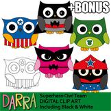 Superhero clipart - owls clip art