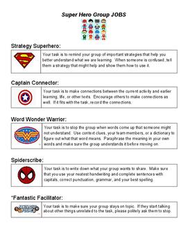 Superhero collaborative group jobs