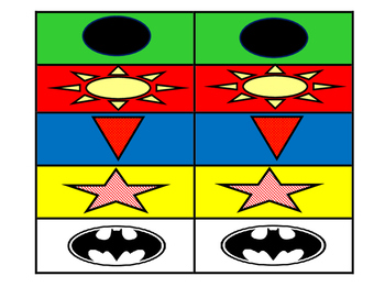 Superhero colored labels