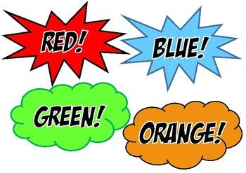 Superhero colour labels