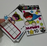 Superhero counting book to 10