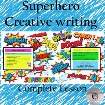 Superhero creative writing opening.