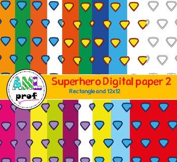 Superhero digital paper 2 (Super-héros papier numérique)