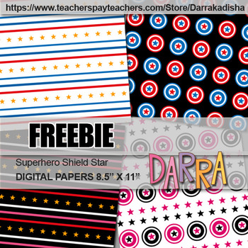 Superhero digital paper - Free cover page background
