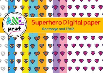 Superhero digital paper (Super-héros papier numérique)