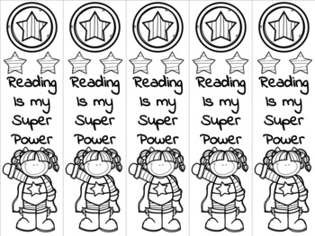 Superhero girl bookmark