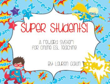 Superhero (boys) Reward for Online ESL Teaching