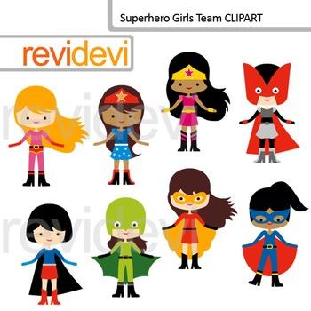 Superhero girls clip art