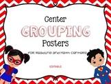 Superhero group center signs