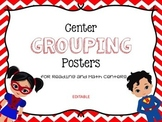Superhero group center signs
