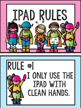 Superhero iPad Rules